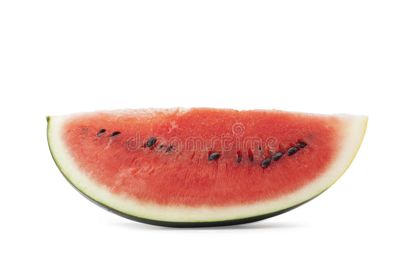 Watermelon. Isolated on white background with clipping path and soft shadow royalty free stock photos