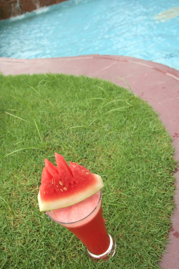 Download Watermelon juice at pool stock image. Image of drink, healthy - 7825353