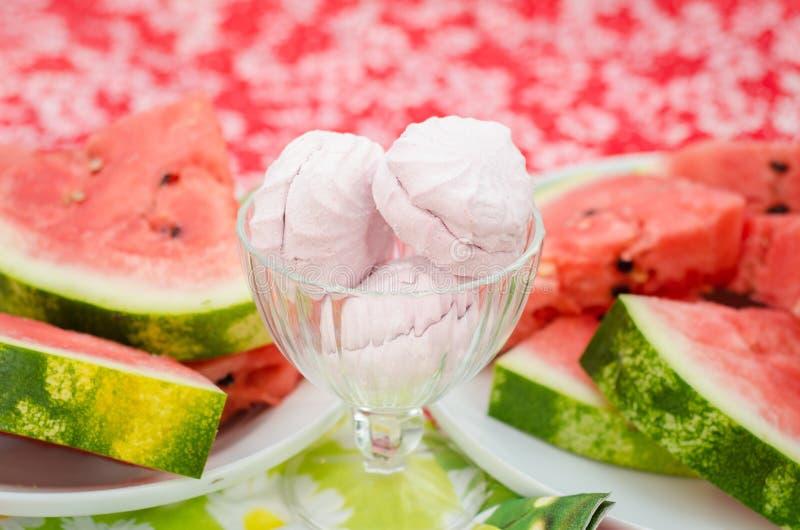 Watermelon, Melon, Food, Frozen Dessert stock image