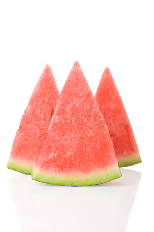 Watermelon pieces royalty free stock images