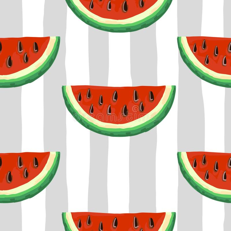 Watermelon seamless pattern. vector illustration