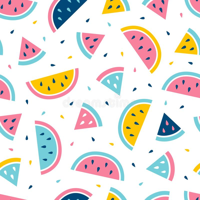 Watermelon seamless pattern. Fashion print design. vector illustration