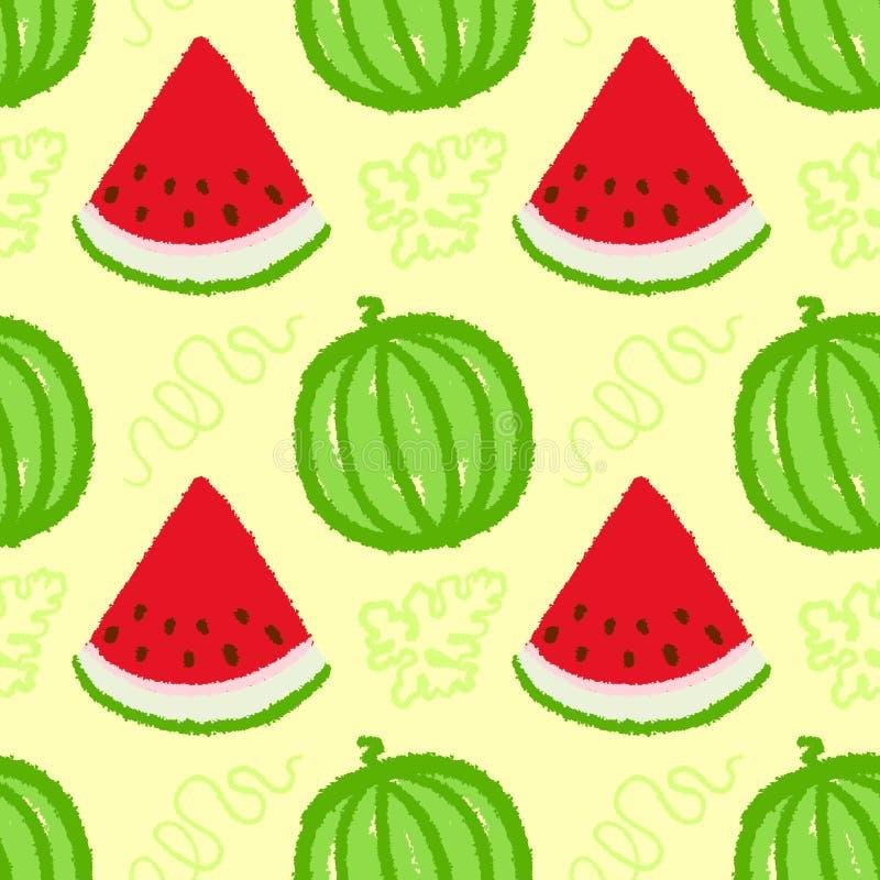 Watermelon seamless pattern stock illustration