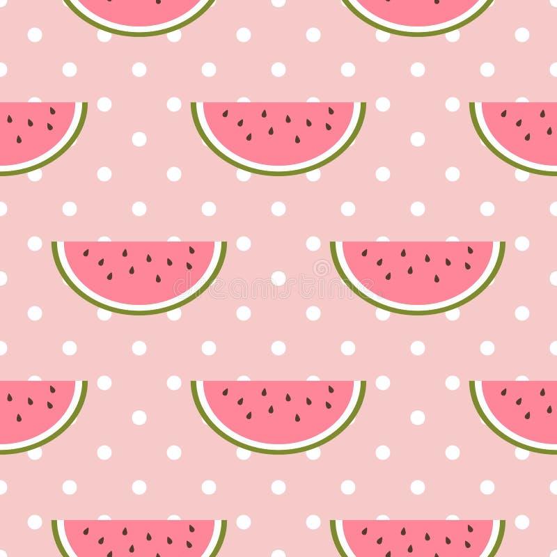 Free Watermelon Seamless Pattern With Polka Dot Royalty Free Stock Photos - 72932718