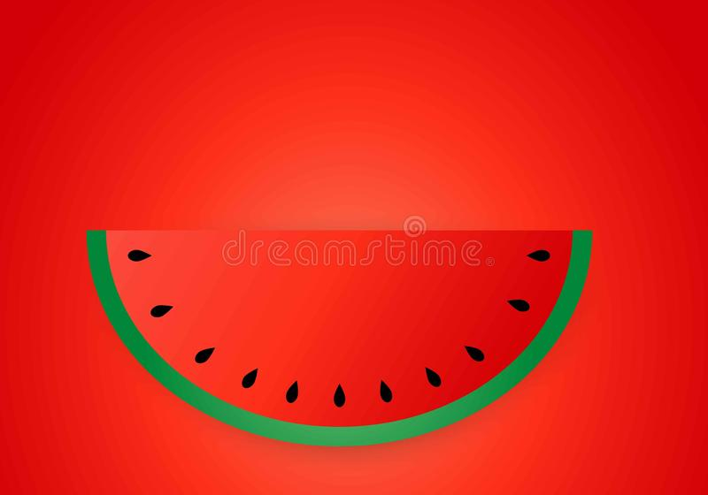Watermelon slice background with seed and skin texture stock images