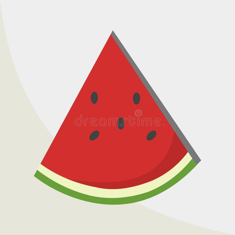 Watermelon slice vector icon illustration. You can Use This illustration For business, For The websites, For company and others royalty free illustration