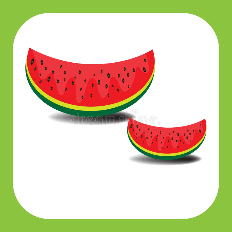 Download Watermelon slices stock vector. Image of freshness, artwork - 10667581