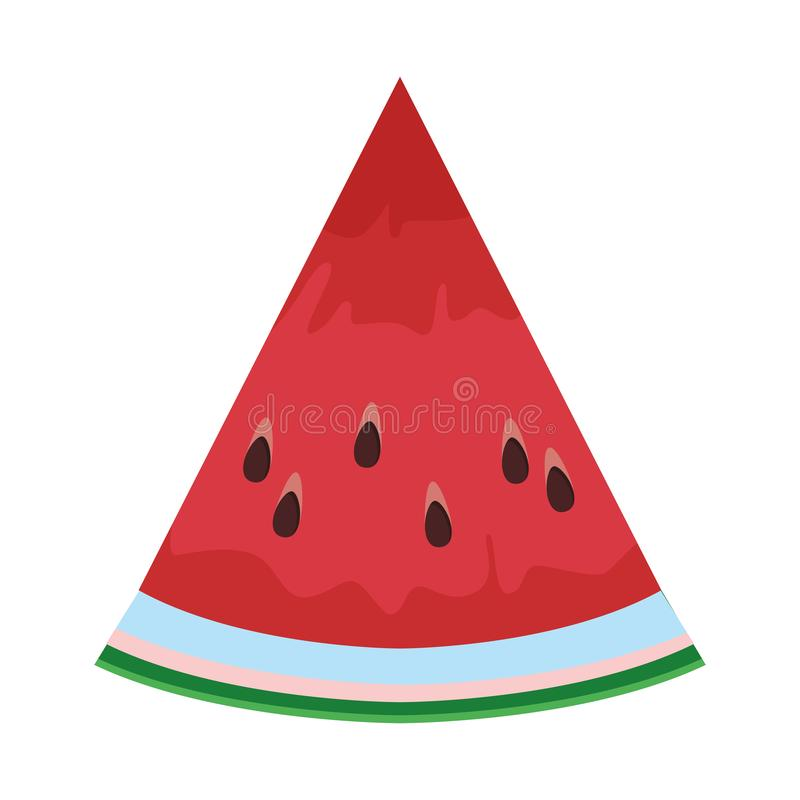 Watermelon slide icon. Isolated colorful in white background vector illustration graphic design vector illustration