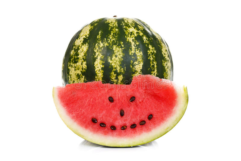 Watermelon smiley stock images
