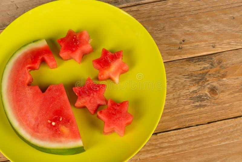 Watermelon stars royalty free stock photo