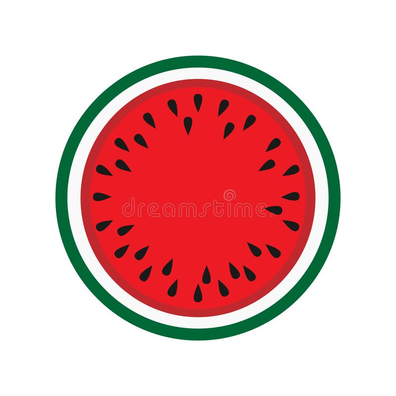 Watermelon tasty vegetarian dessert nature. Natural tropical ripe vector background. Summer fruit delicious nutrion vitamin. Slice. Eat berry isolated stock illustration