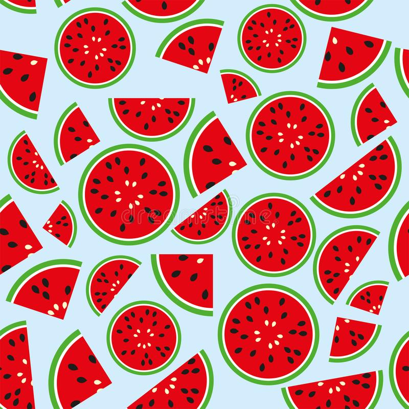 Watermelon vector seamless pattern royalty free stock photography