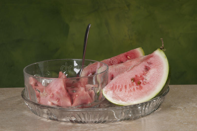 Download Watermelon wedges stock image. Image of served, rich - 26270993