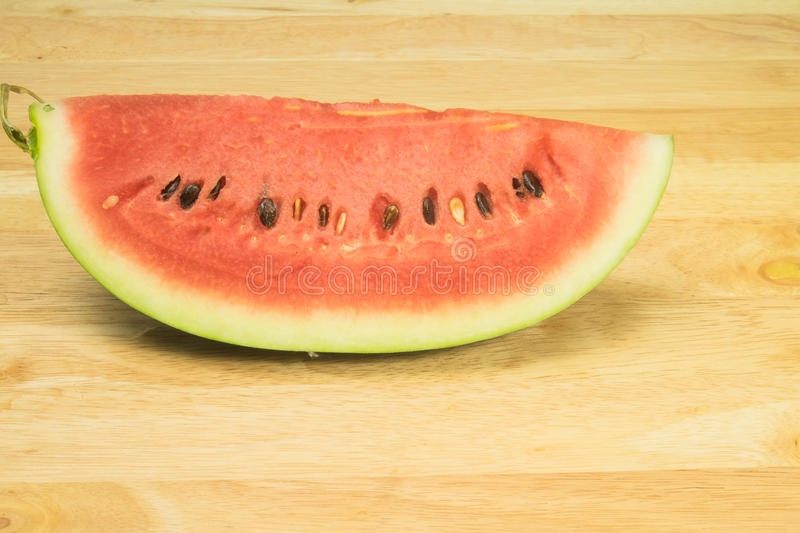 Watermelon white background stock photography