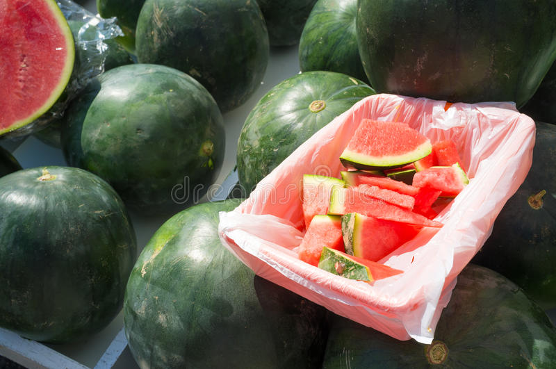 Watermelons stock image