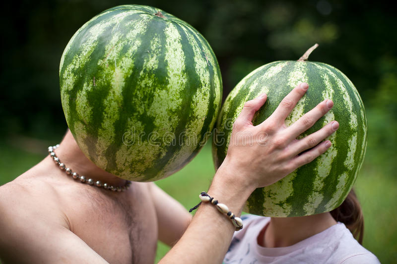 Download Watermelons love stock photo. Image of happiness, young - 17831082