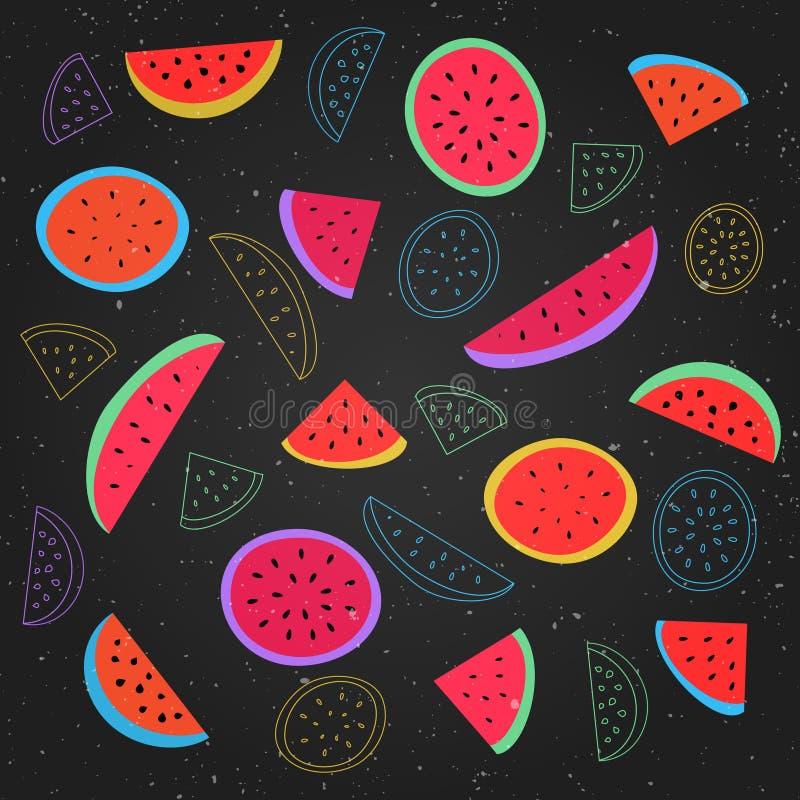 Watermelons vector illustration