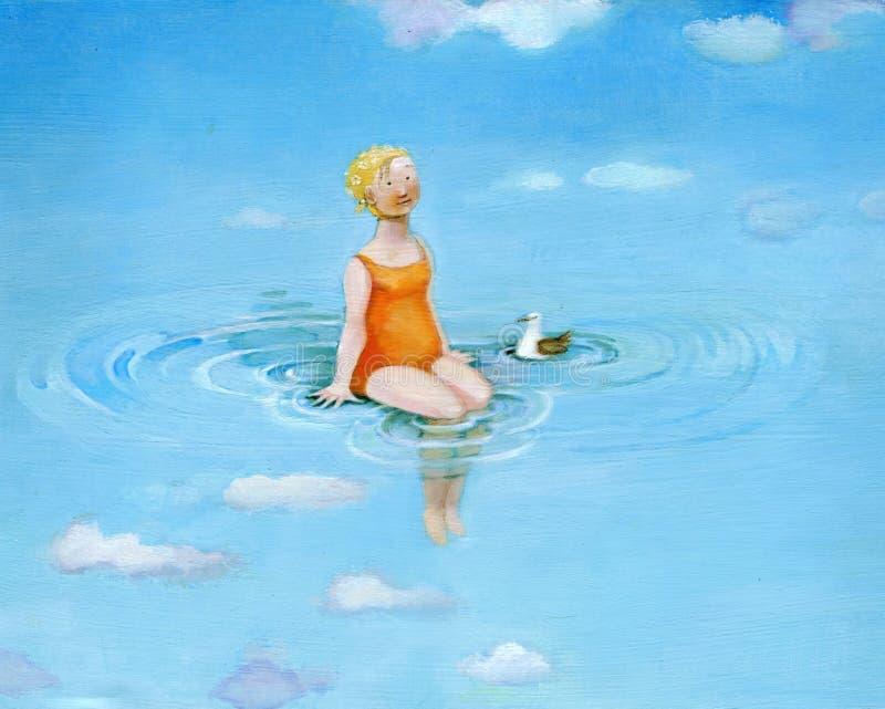 Watermiddag stock illustratie