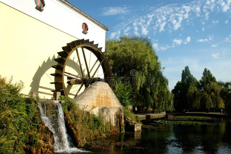 Watermill dans le parkland image libre de droits