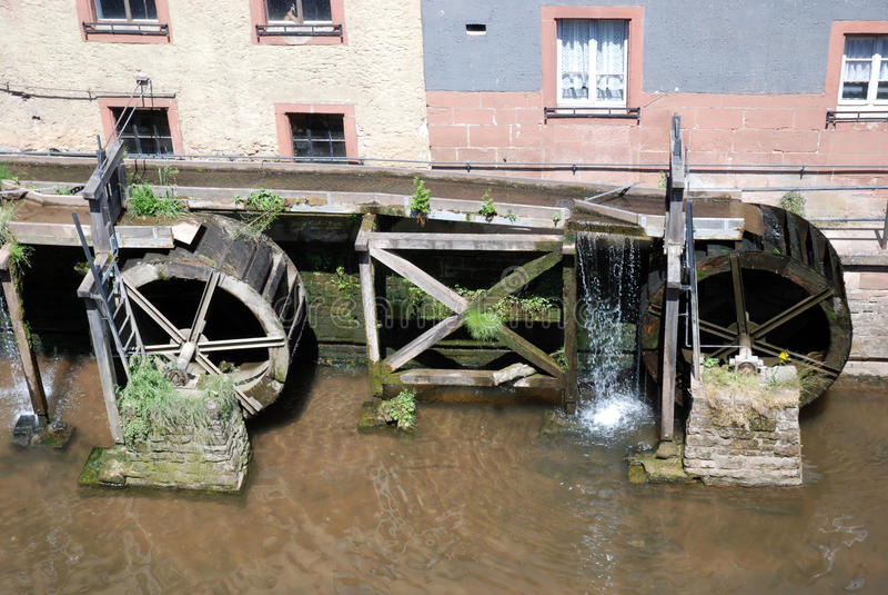 Germany - Watermill In Old Romantic City Saarburg Royalty Free Stock Image