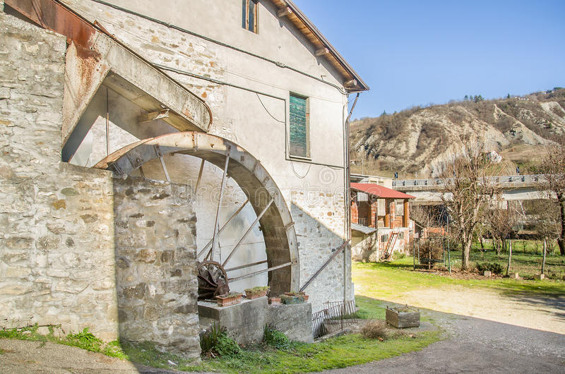 Watermill velho imagem de stock
