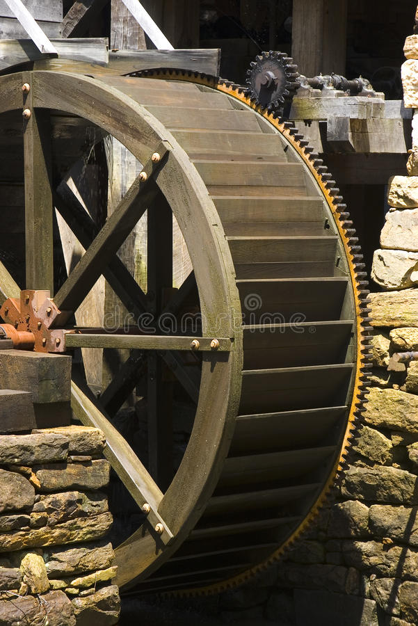 Watermill wheel stock photo
