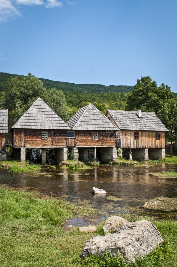 Watermolennen, Otocac, Lika, Centraal Kroatië royalty-vrije stock afbeeldingen