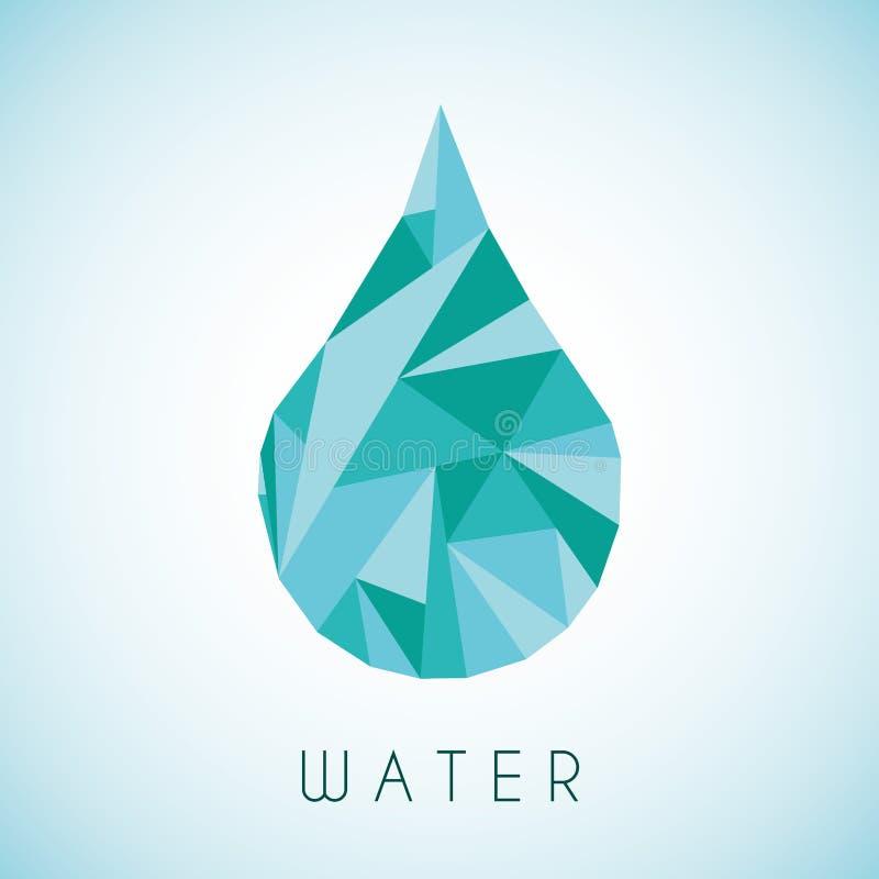 Waterontwerp stock illustratie