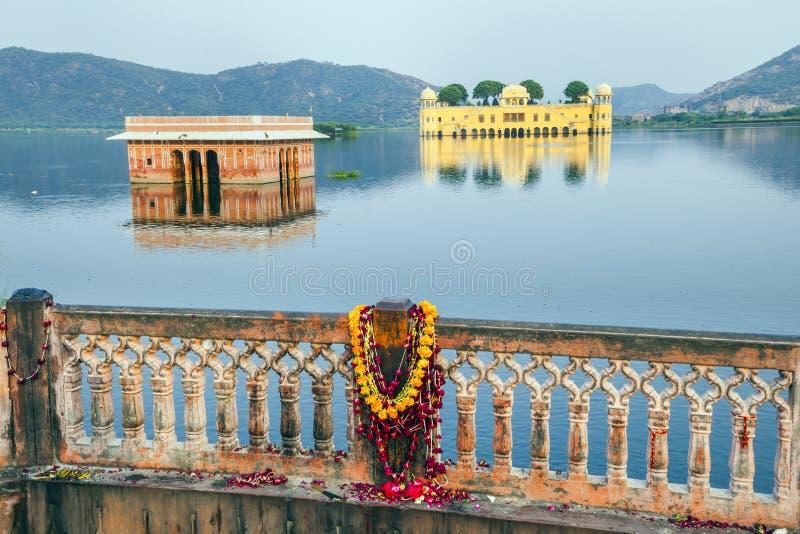 Waterpaleis (Jal Mahal) bij de Mens royalty-vrije stock afbeelding