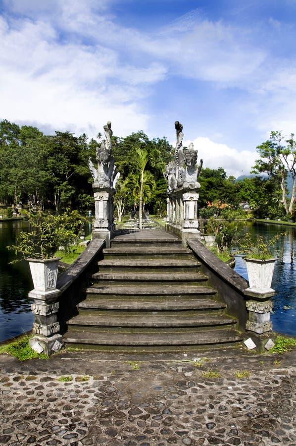 Waterpaleis van Tirta Gangga stock fotografie