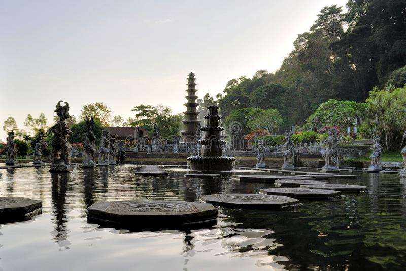 Waterpaleis van Tirta Gangga, Bali, Indonesië royalty-vrije stock afbeeldingen