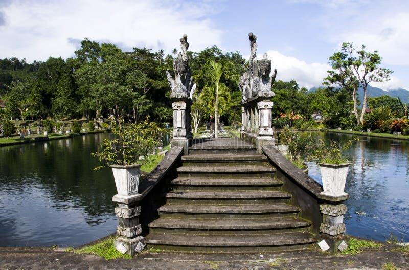 Waterpaleis van Tirta Gangga in Oost-Bali royalty-vrije stock fotografie
