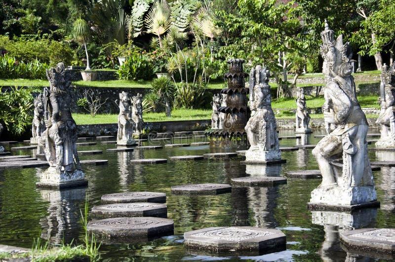 Waterpaleis van Tirta Gangga in Oost-Bali stock foto's