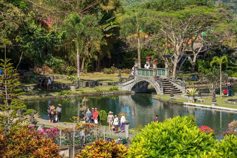 Waterpaleis van Tirta Gangga in Oost-Bali, Indonesië royalty-vrije stock afbeelding