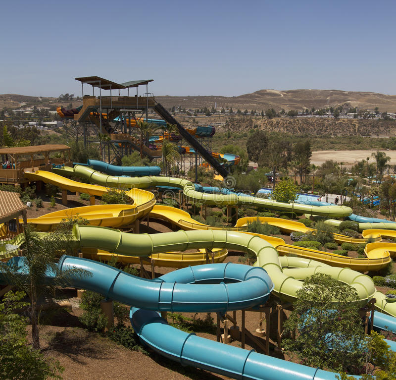 Download Waterpark Amusement In The Desert Stock Image - Image of play, center: 31978461