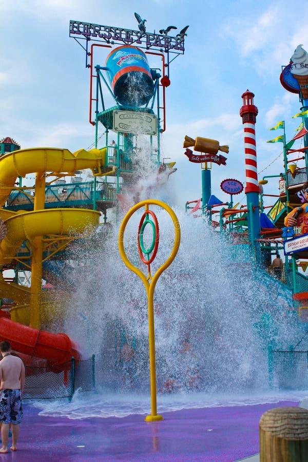 Waterpark på Hersheypark, PA royaltyfri bild