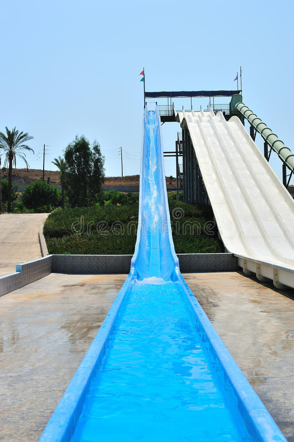 Waterpark Slides Stock Photo