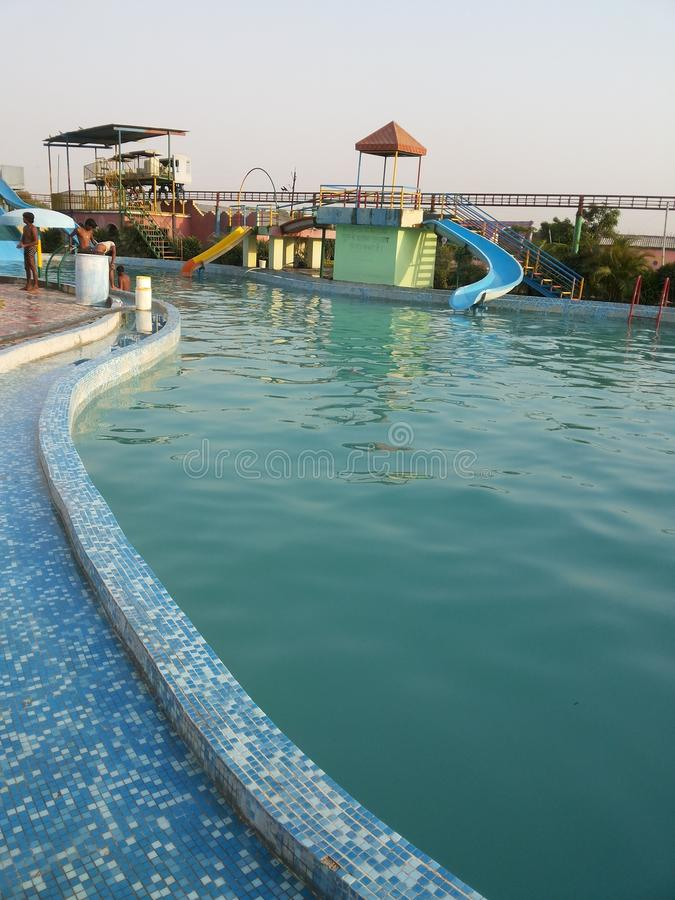 Waterpark van Varanasi royalty-vrije stock foto