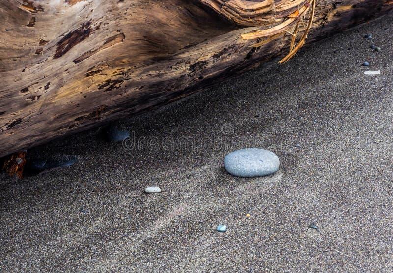Waterpatronen op zandig strand royalty-vrije stock afbeeldingen
