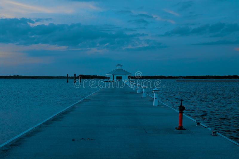 Waterpaviljoen op Chesapeake Baai in Cambridge Maryland royalty-vrije stock foto