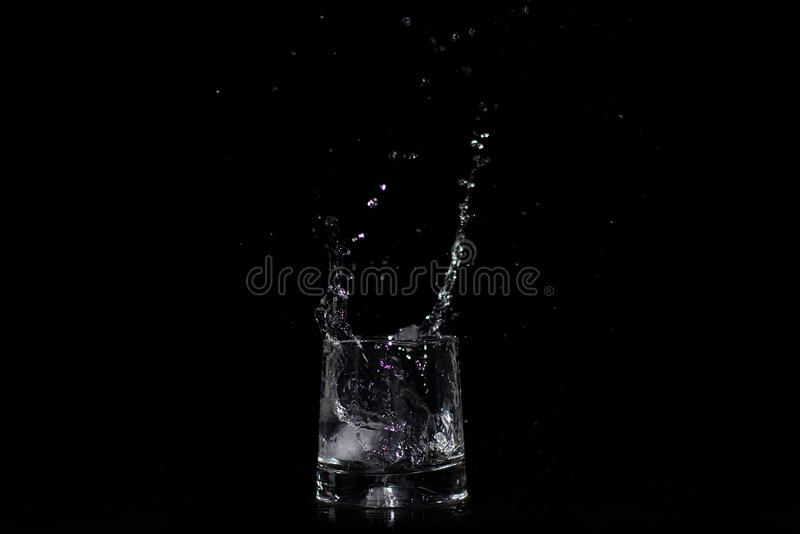 Waterplons in het glas stock fotografie