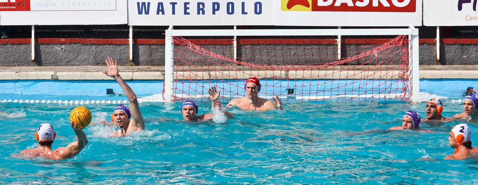 Download Waterpolo action editorial photo. Image of nervi, shot - 10110791
