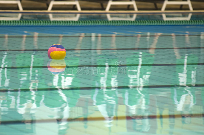 Waterpolo ball in pool royalty free stock images