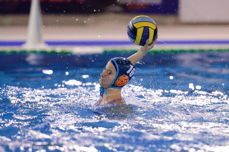 Waterpolo EuroLeague Women Championship Exile SG vs Dunaujvaros royalty free stock photography