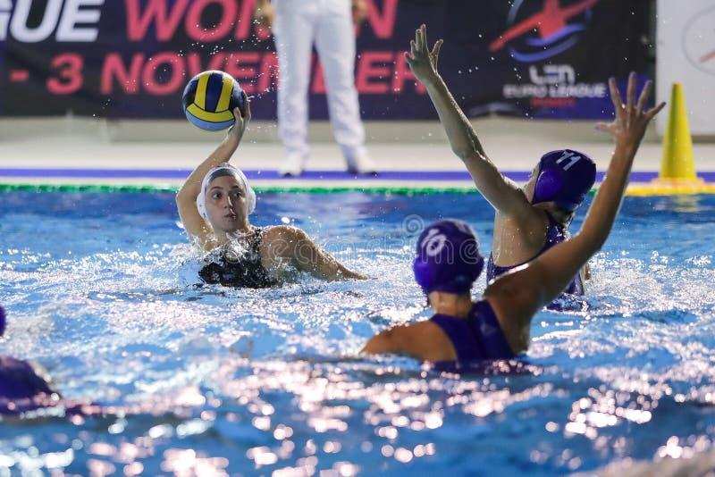 Waterpolo EuroLeague Women Championship Sis Roma vs Kinef Surgutneftegas Kirishi royalty free stock images