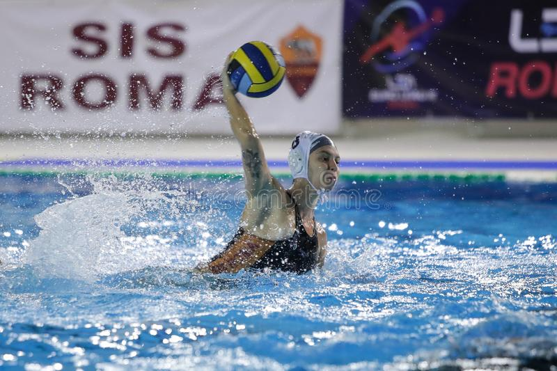 Waterpolo EuroLeague Women Championship Sis Roma vs Kinef Surgutneftegas Kirishi royaltyfri foto