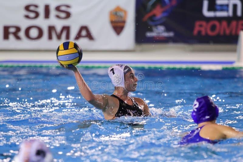 Waterpolo EuroLeague Women Championship Sis Roma vs Kinef Surgutneftegas Kirishi royalty free stock image