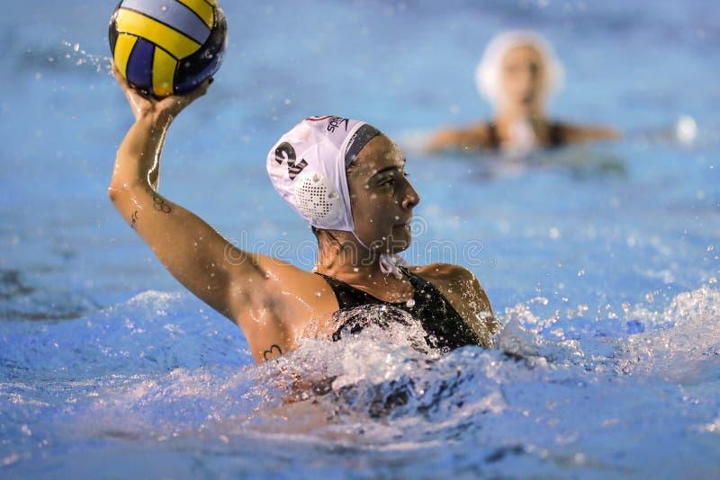 Waterpolo EuroLeague Women Championship Sis Roma vs ZV De Zaan stock photography
