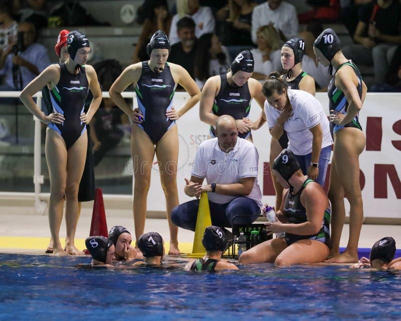 Waterpolo EuroLeague Women Championship Sis Roma vs ZV De Zaan royalty free stock photo