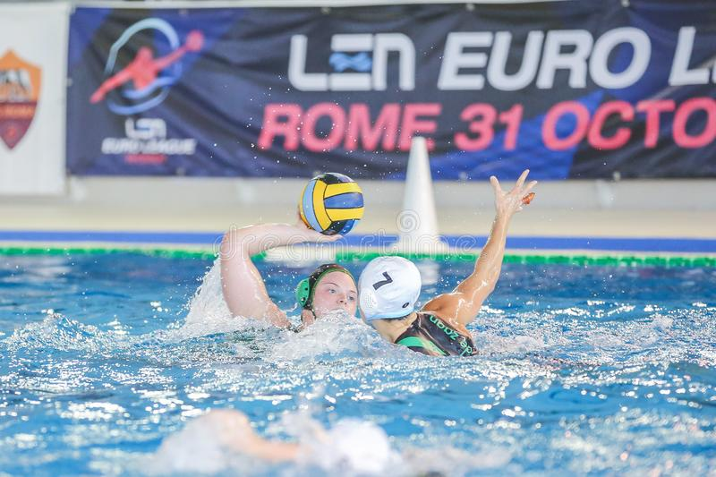 Waterpolo EuroLeague Women Championship ZV De Zaan vs Exile SG arkivfoto